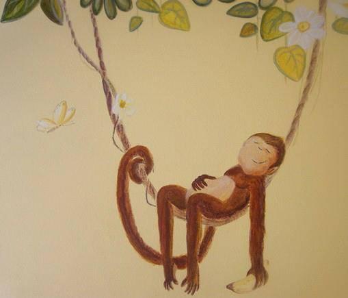 monyet ditiup angin