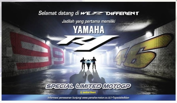 werdifferent yamaha r1 moto gp