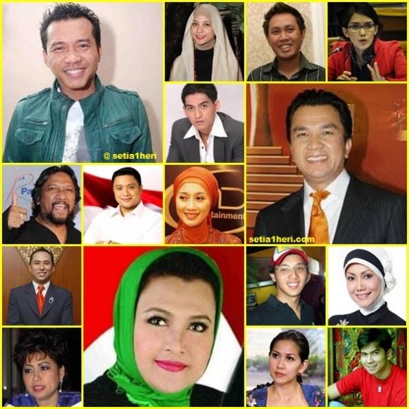 18 artis lolos pemilu legislatif 2014 ke gedung senayan