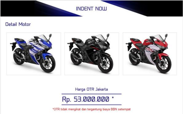 harga OTR Yamaha YZF-R25