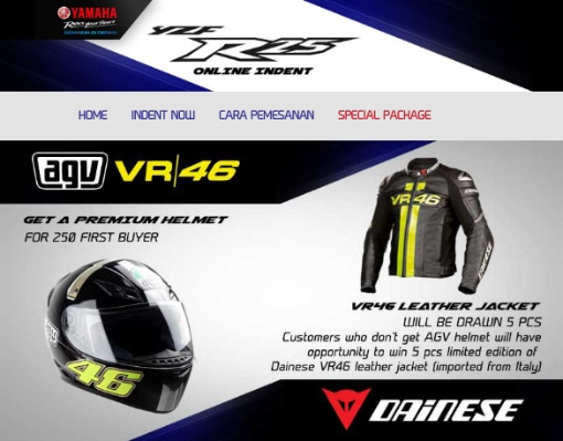 Helm AGV edisi VR-46 dan Leather JAcket Dainese edisi VR-46