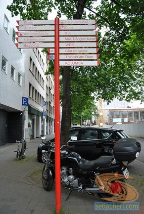 jepretan motor di Cologne Jerman