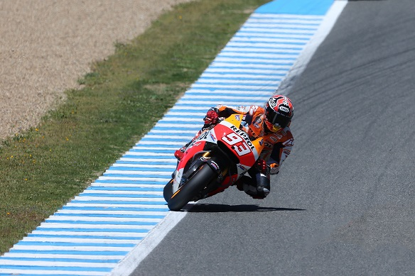 Marques free practice at spain circuit moto gp 2014