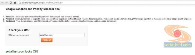 pixelgroove.com untuk memeriksa google sandbox