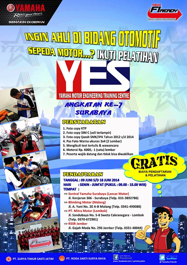 POSTER Yamaha Engineering School (YES) Surabaya