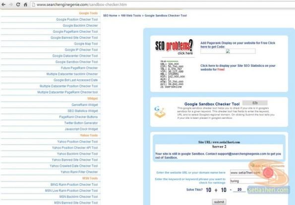 searchenginegenie.com untuk sandbox tools