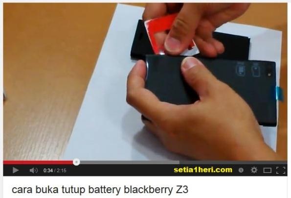 cara buka casing belakang bb z3