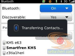 cara mengirimkan kontak dari bb ke android