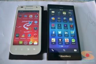 antara android smartfren andromax-i dan blackberry Z3