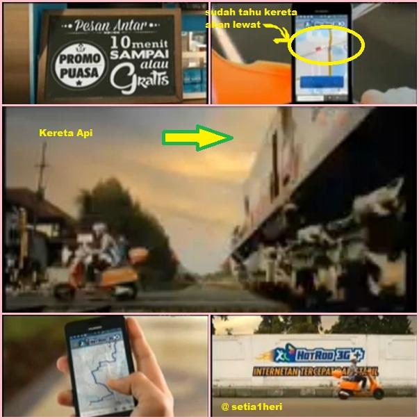 iklan perdana XL-AXIS yang tidak pro keselamatan berkendara