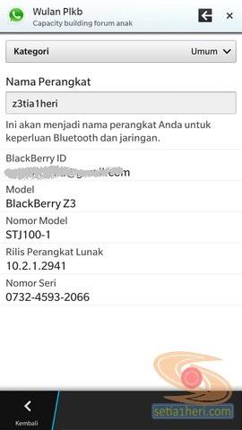 model seri OS BB Z3