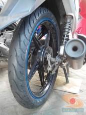 review ban Michelin Pilot Street Bias pada motor bebek yamaha vega (2)