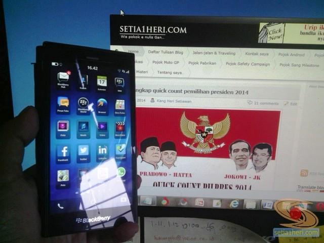 review blackberry Z3 aka BB Jakarta 2014