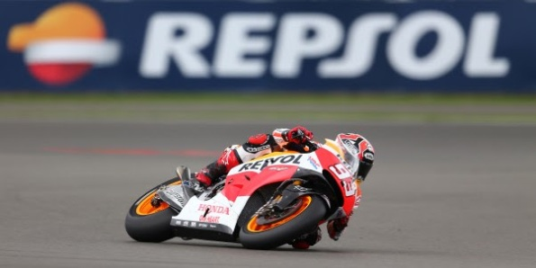Marquez at FP Silverstone GP 2014