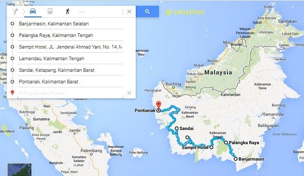 rute turing borneo GPC 2014