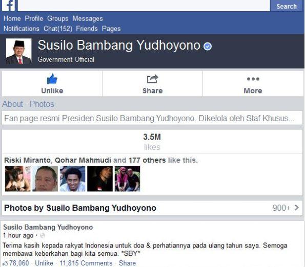 SBY ulang tahun ke 65