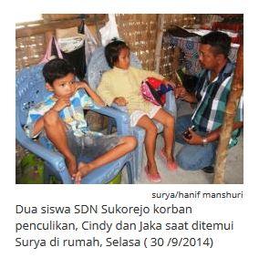 2 Siswa SDN Sukorejo Lamongan korban percobaan penculikan
