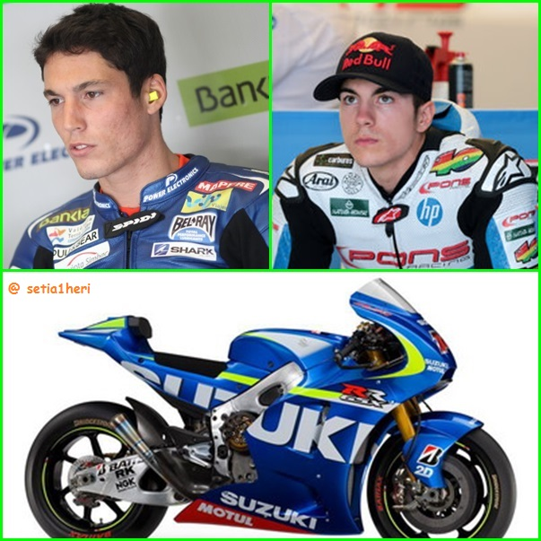 Aleix Espargaro dan Maverick Vinales motor GSX-RR moto gp 2015