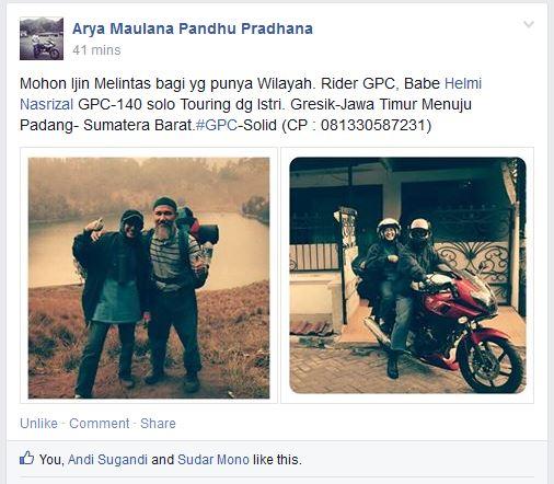 Babe Helmi road to gresik - sumatra barat 2014