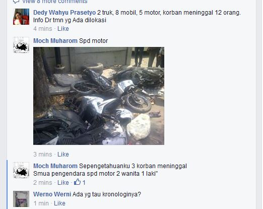 kecelakaan karambol di perempatan veteran gresik rabu 15 oktober 2014 (3)