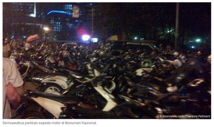 kehilangan motor di monas pasca pesta rakyat