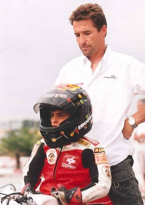 little marc marquez and his daddy