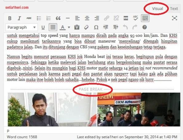 membuat page break di blog wordpress