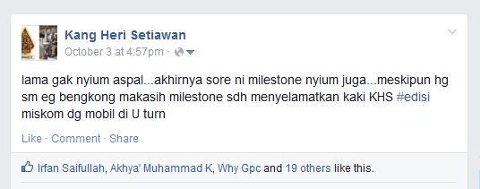 milestone nyium aspal