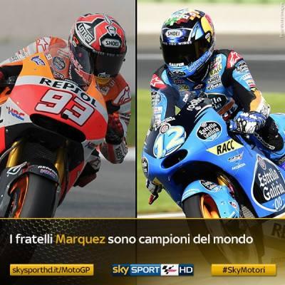 alex marquez dan marc marquez the camphion 2014