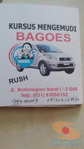 Belajar nyetir mobil toyota rush di Bagoes gresik (2)