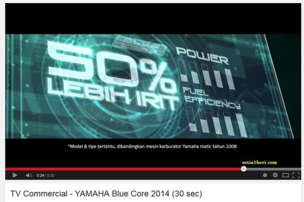 irit BBM dengan Yamaha Bluecore