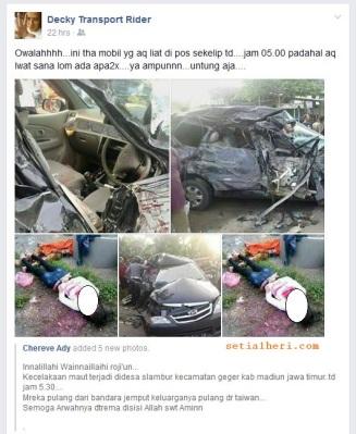 gambar kecelakaan TKW di Dolopo Madiun 21 Desember 2014