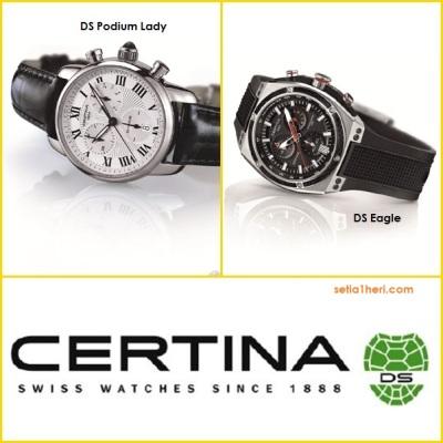 jam tangan certina tipe DS Eagle dan DS Podium Lady