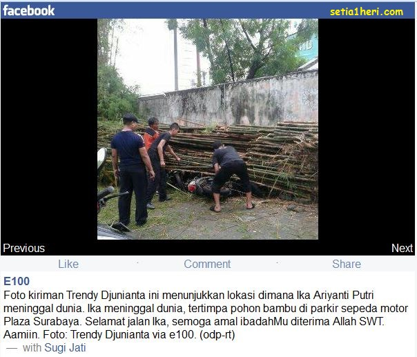 Angin Puting Beliung Menerjang Surabaya, Terdapat 1 Korban