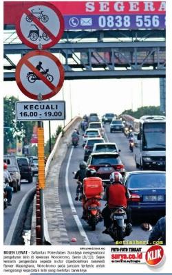 sepeda motor boleh melintasi jembatan mayangkara surabaya 2014