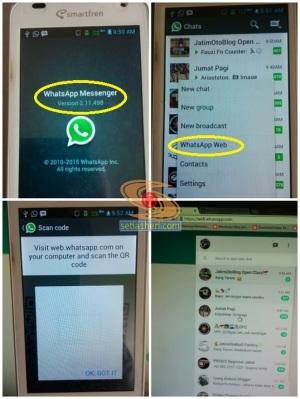 cara menjalan WhatsAp Web di pc atau laptop tahun 2015