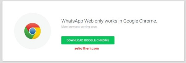 whatsaap only work at browser google chrome