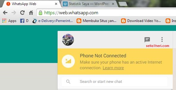 whatsapp versi web browser mesti pake jaringan internet